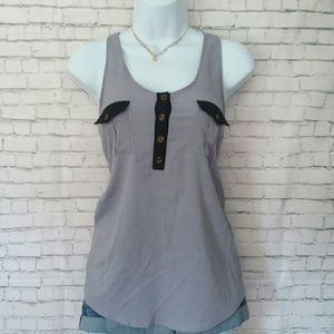 LUSH lilac racer back tank with pockets